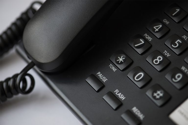 A close up image of telephone