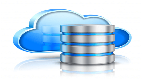 Image of backup with cloud computing