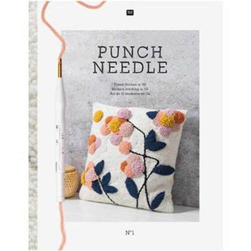 Punch Needle Instruction Book with Patterns [Paperback]