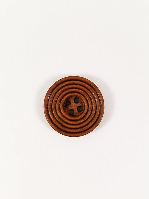 """Ridged Red Wood 1"""" Button"""