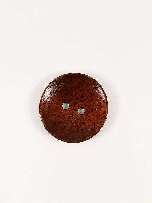 Concave Red Wood Button 3.5 cm