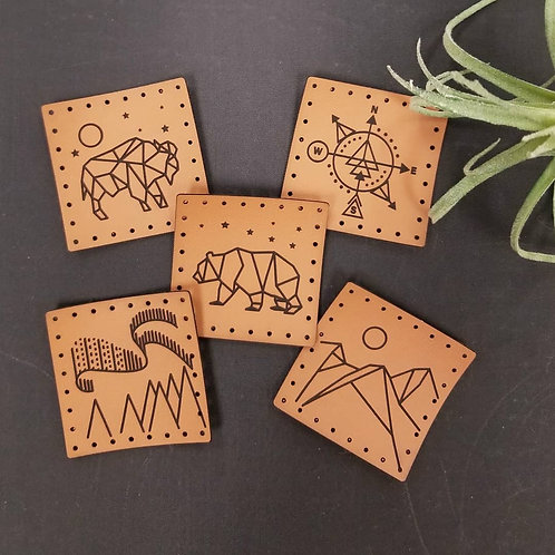 Northern Series Faux Leather Patches