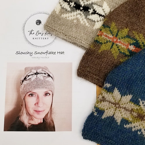Snowflake Slouchy Hat Pattern