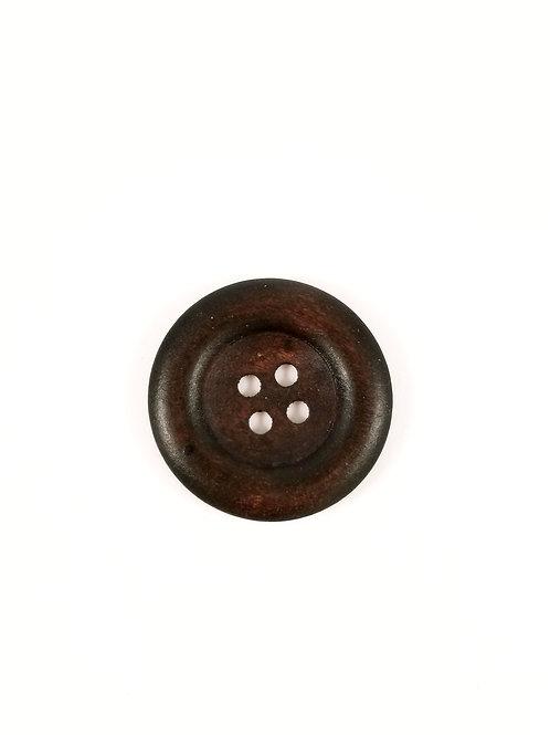 Espresso Wood Button 3.5 cm