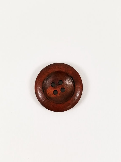 """Red Wood 1"""" Button"""