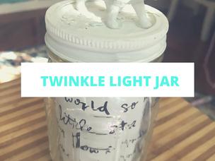 DIY Twinkle Mason Jar Light