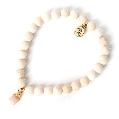 Bella Bracelet-Pink Opal Nugget