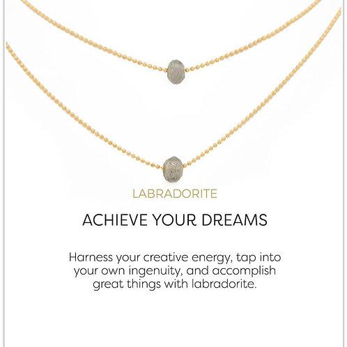 Lily Necklace-Labradorite