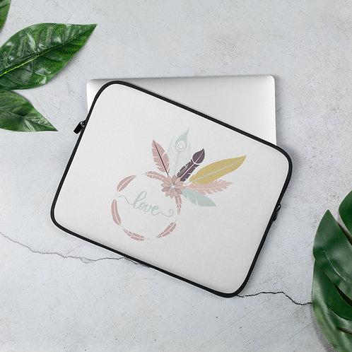 Love & Feathers Laptop Sleeve