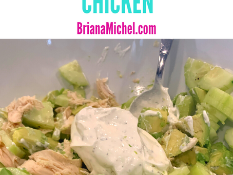 2- Minute Avo-Dill Chicken Salad