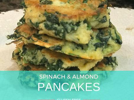 Spinach Almond Pancake Appetizer