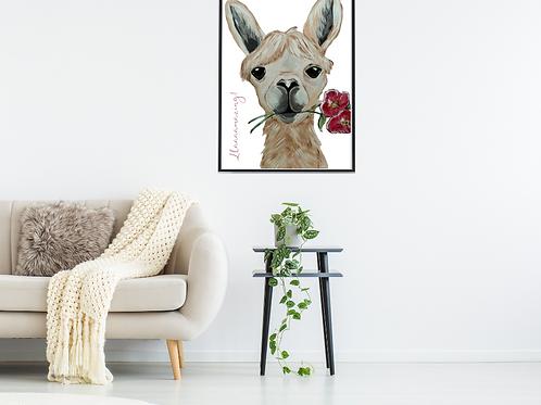 Petunia the Llama Poster 18 x 24