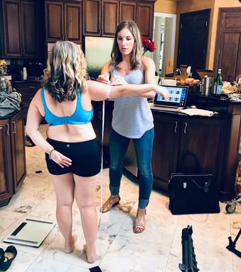 Briana Measuring a Client