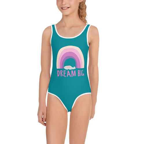 Dream Big Rainbow Girls Swimsuit