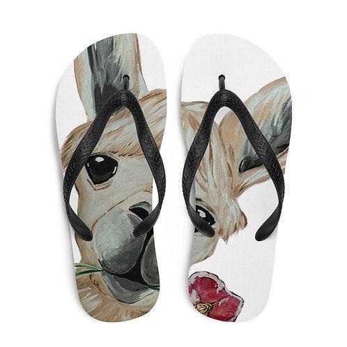 Llama Mama Flip Flops