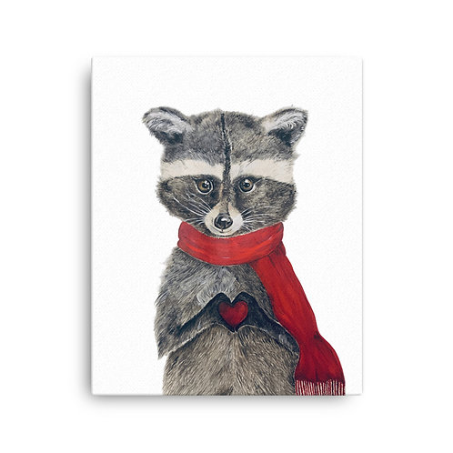 Bandit the Raccoon Love (white background)