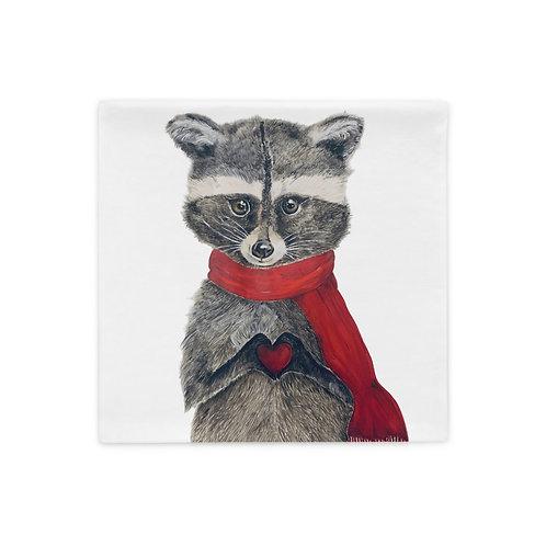 Romeo Raccoon Pillow Case