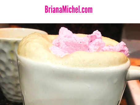 Pink Whipped Cream Beauty Coffee
