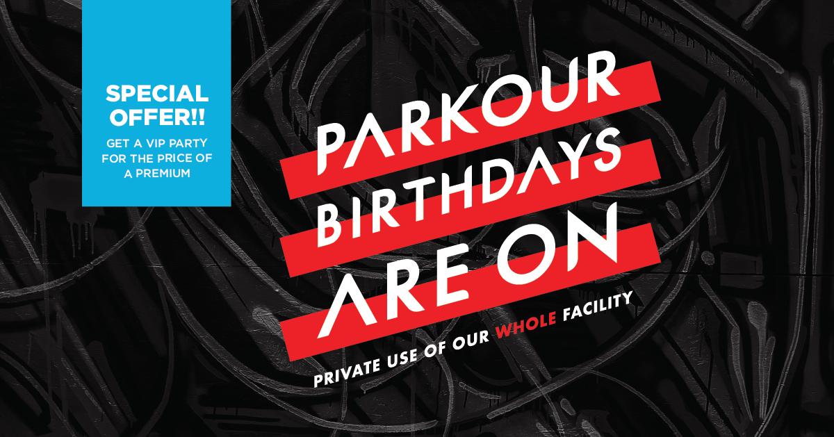 Parkour Birthdays are On!