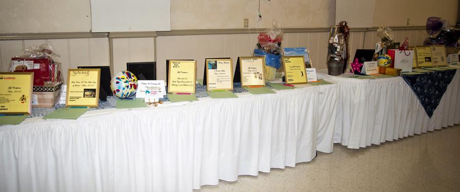 Our Silent Auction tables
