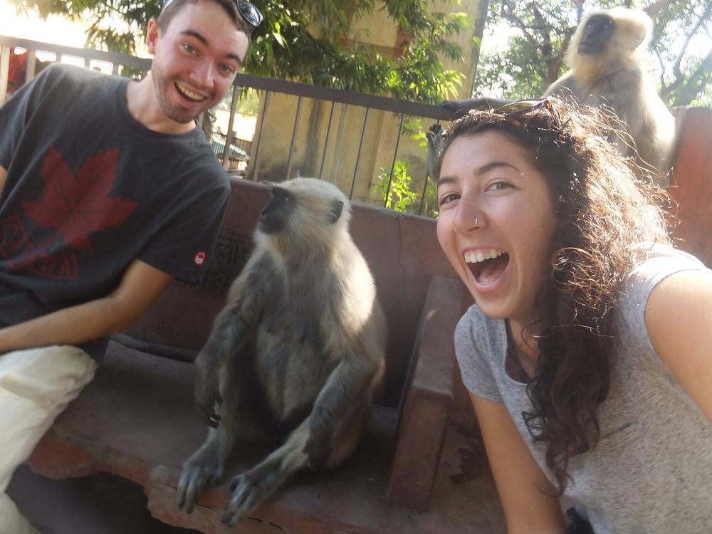 india itinerary rishikesh monkey selfie