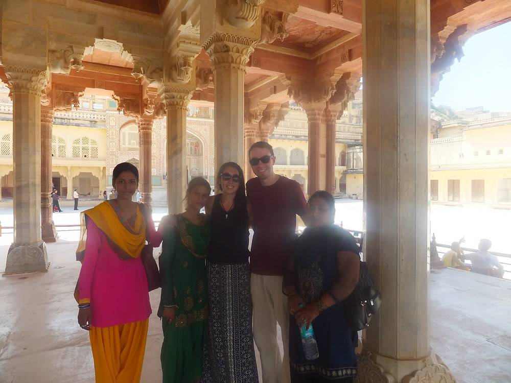 backpacking in india jaipur palace indian selfie