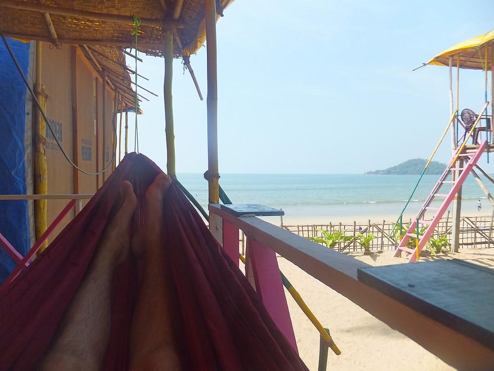 beach hut Palolem Goa India