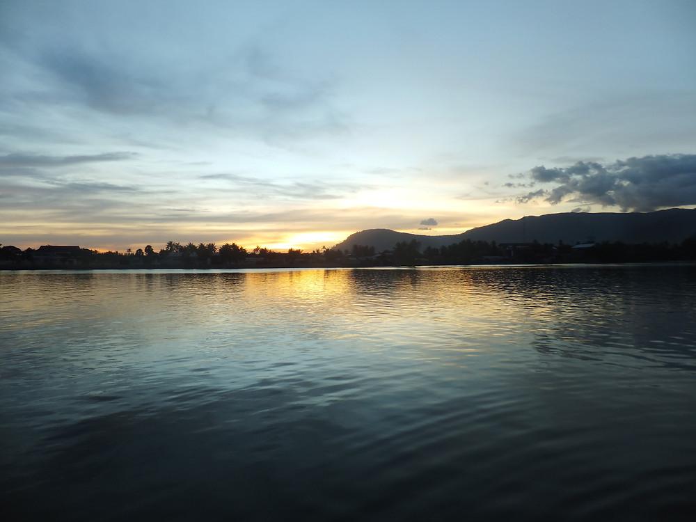 kampot cambodia sunset