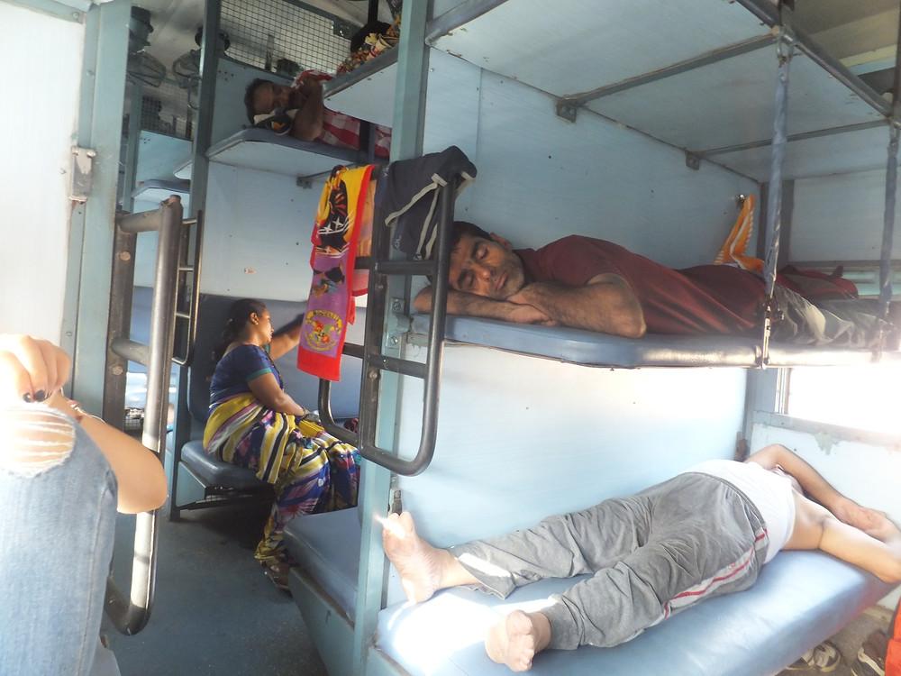 sleeper class train india backpacking