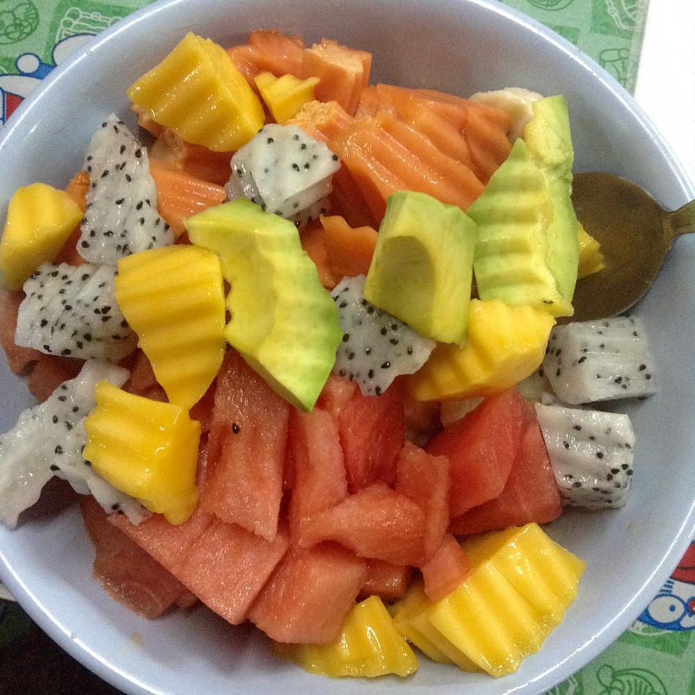 best fruit salad chiang mai thailand vegan travel