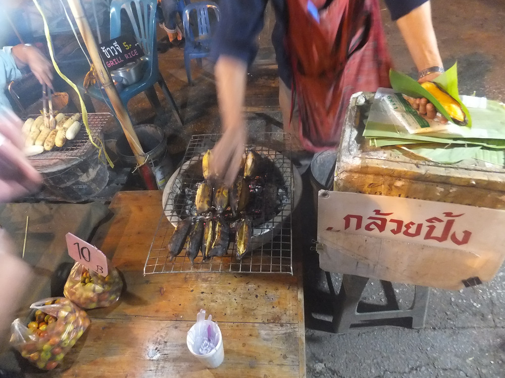 roasted banana chiang mai street food