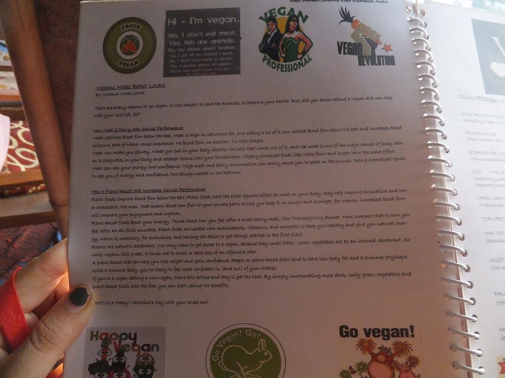 vegan rishikesh menu