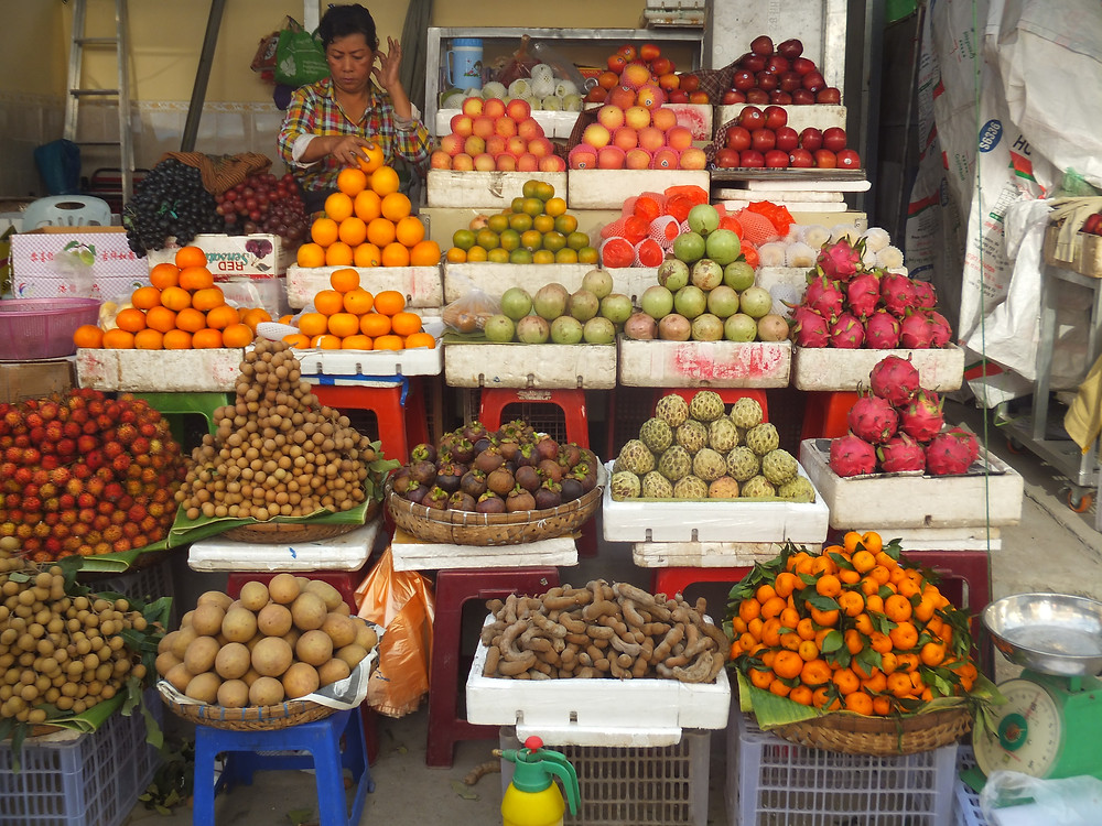 phnom penh market vegan