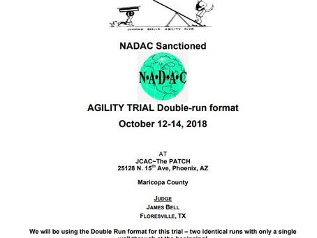 NADAC Agility Trials - October 12- 14th