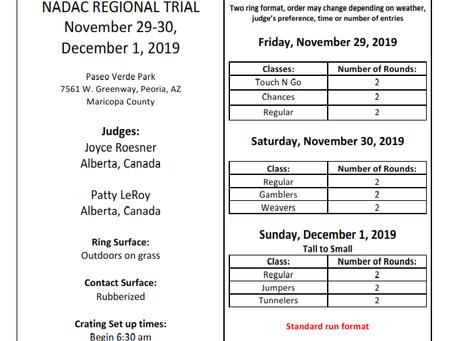 NADAC Regional Agility Trials