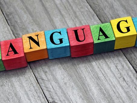 A change of language…