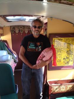 Visitors on Bertha Bus