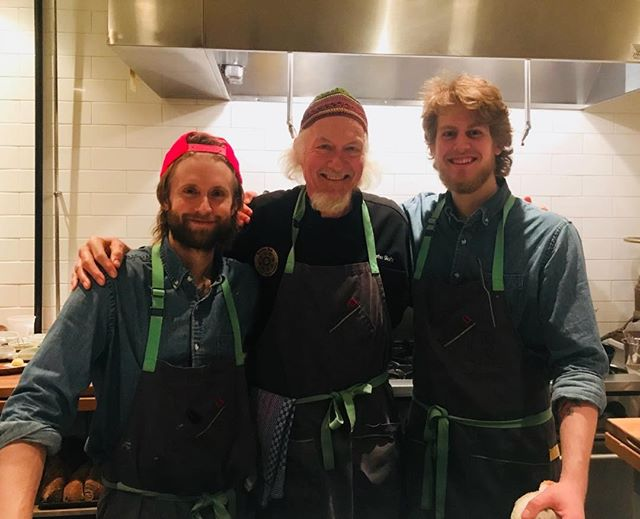 I'm older than these 2 guys combined! We make one hell of a team! I absolutely love restaurant work!