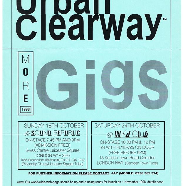 URBAN CLEARWAY GIG FLYER