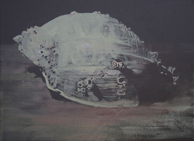 shell as metaphor for home                                         Acrylic on canvas.