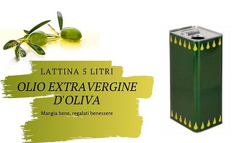 Lattina 5 Litri Olio Extravergine d'Oliva EVO