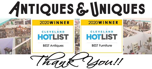 Antiques & Uniques 2020 Cleveland Hotlis