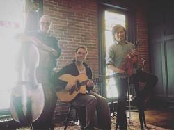 Michael Ball (Bass), Jack Soref (Guitar), Volt W. Jingjit (Violin) !! What a fun gig at Mill No