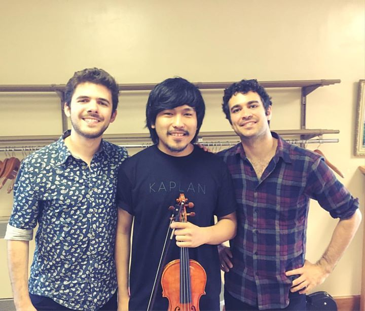With my favorites violinists! Alex Hargreaves (Violinist of Turtle Island String Quartet) and Mike B