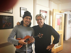 With Darol Anger! The monster of _Turtle Island String Quarter_! Thank you for a great time in this
