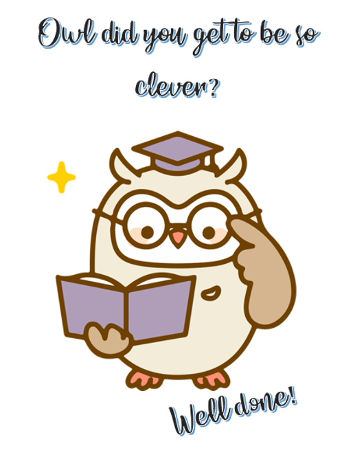 Owl did you get so clever ?~Owl 🦉
