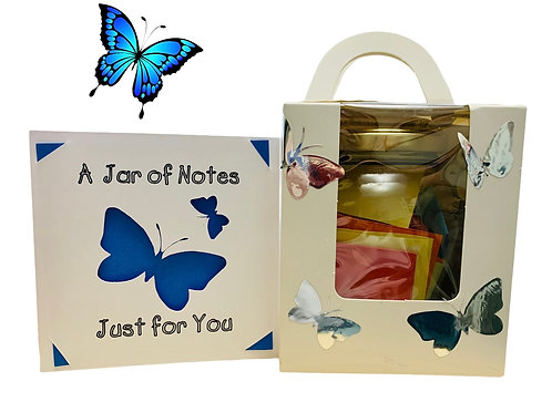 Jar of Notes & Greeting Card
