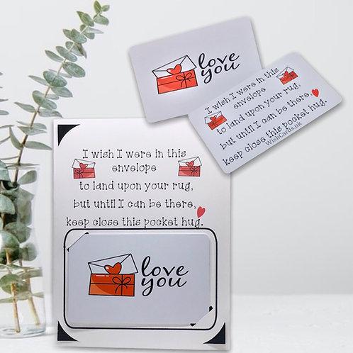 Wish Card ~ Pocket Hug ~  love you 💌