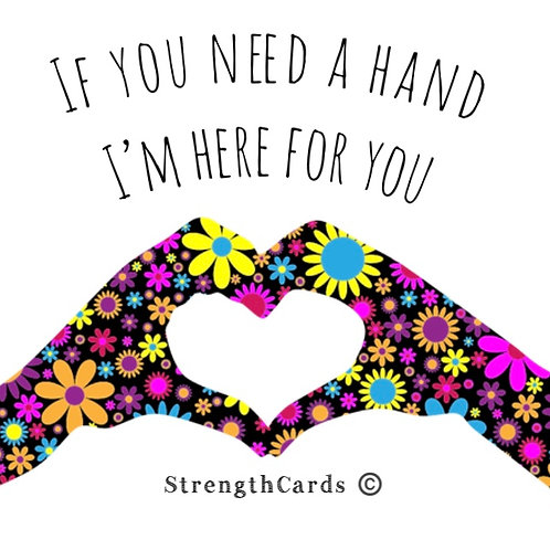 if you need a hand ~ Gift card