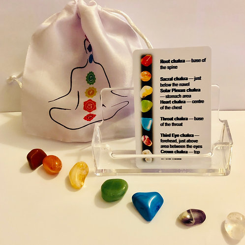 7 Chakra Stones & cards 🧘🏽♂️